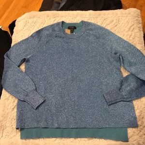 J.Crew blue glitter Sweater Size XXS.